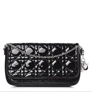 Christian Dior Black Patent Cannage Bag/clutch
